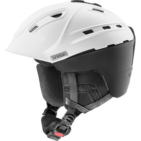 UVEX p2us IAS Casco da sci, white/black mat